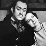 """Los protagonistas de """"La Lunareja"""", estrenada en 1946: María Rivera en el rol de Isabela y Ricardo Roca Rey como el capitán Alonso."""